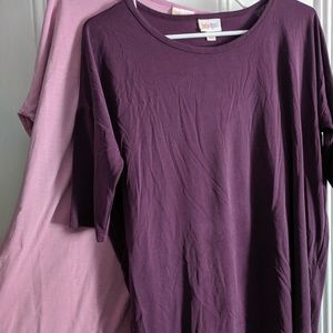 Two Purple Lularoe Irmas Xs EUC